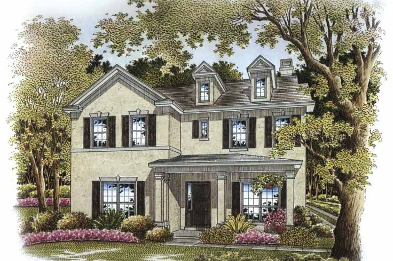 Country Exterior - Front Elevation Plan #999-174