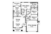Craftsman Style House Plan - 3 Beds 2 Baths 1760 Sq/Ft Plan #1058-72 Floor Plan - Main Floor Plan