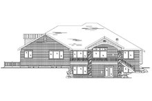 House Plan Design - Traditional Exterior - Rear Elevation Plan #5-458