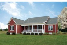 Dream House Plan - Ranch Exterior - Rear Elevation Plan #929-745