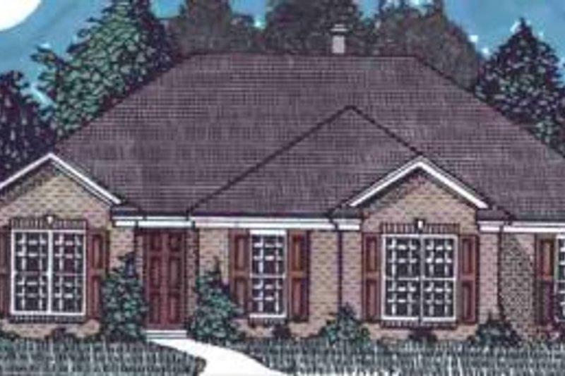 European Style House Plan - 3 Beds 2 Baths 1612 Sq/Ft Plan #69-114