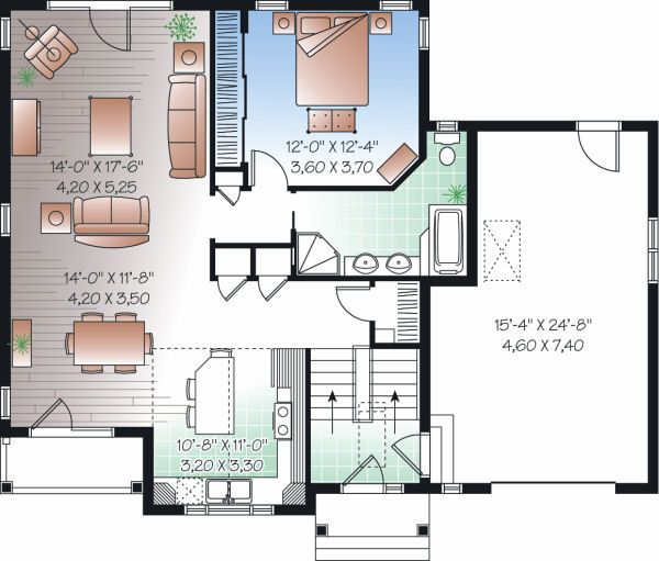 Traditional Floor Plan - Main Floor Plan Plan #23-817