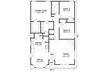 Traditional Floor Plan - Main Floor Plan Plan #84-541