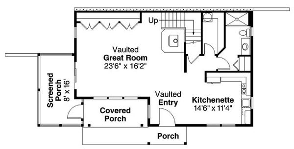 Craftsman Floor Plan - Main Floor Plan Plan #124-554