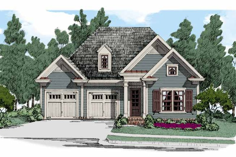 Colonial Exterior - Front Elevation Plan #927-510