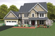 House Plan Design - Colonial Exterior - Front Elevation Plan #1010-159
