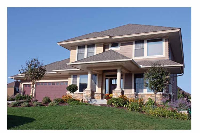 House Plan Design - Prairie Exterior - Front Elevation Plan #51-1077