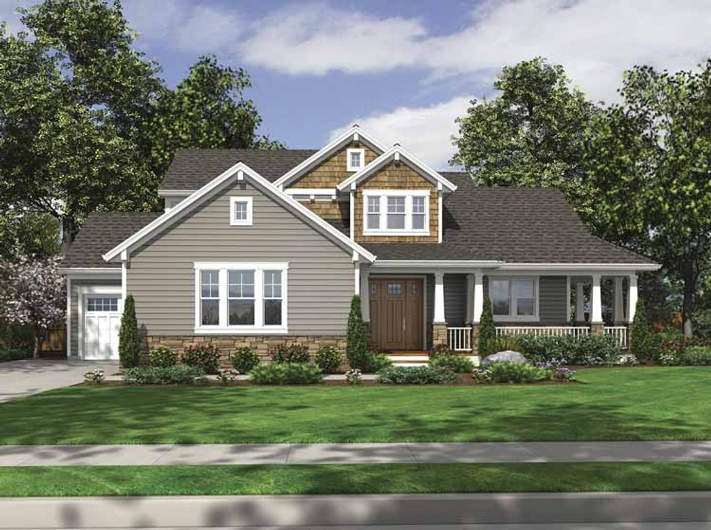 Craftsman style house plan 4 beds 2 5 baths 2233 sq ft for Craftsman vs mission style