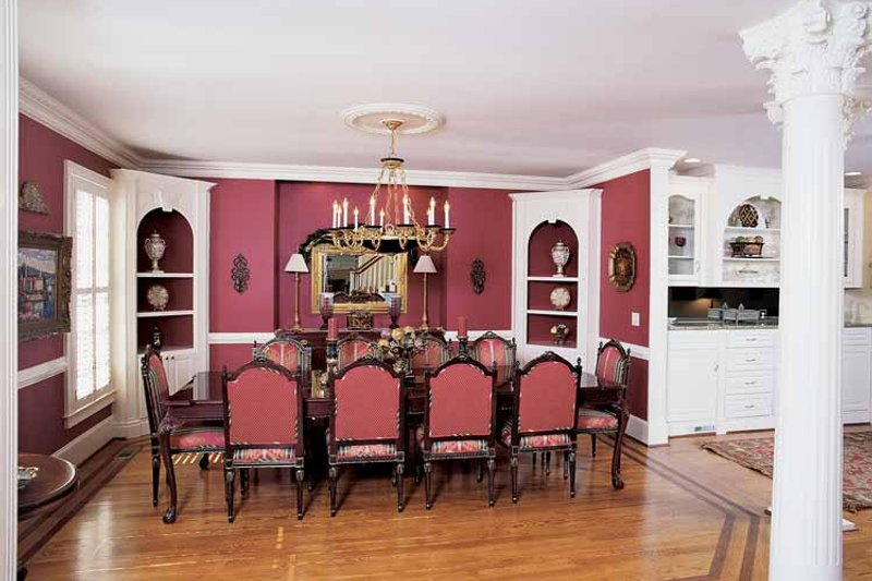 Colonial Interior - Dining Room Plan #54-184 - Houseplans.com