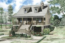 Home Plan - Mediterranean Exterior - Front Elevation Plan #17-3300