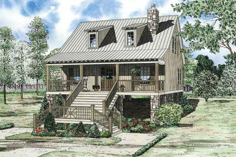 Dream House Plan - Mediterranean Exterior - Front Elevation Plan #17-3300