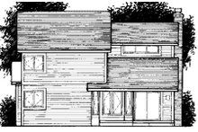 Home Plan - Traditional Exterior - Rear Elevation Plan #320-335