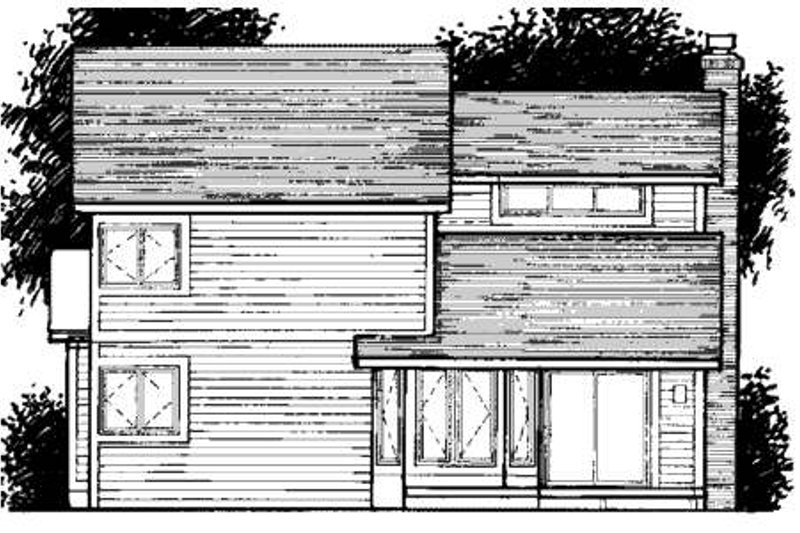 Traditional Exterior - Rear Elevation Plan #320-335 - Houseplans.com