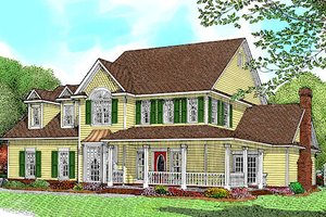 Farmhouse Exterior - Front Elevation Plan #11-205