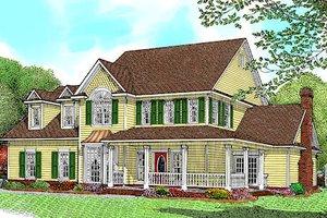 Farmhouse Exterior - Front Elevation Plan #11-205