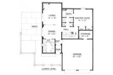Traditional Floor Plan - Main Floor Plan Plan #45-565