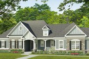 Ranch Style House Plan - 3 Beds 2.5 Baths 2333 Sq/Ft Plan #1010-195 Exterior - Front Elevation