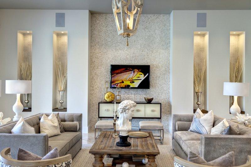Mediterranean Interior - Family Room Plan #930-444 - Houseplans.com