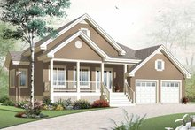 Country Exterior - Front Elevation Plan #23-2384