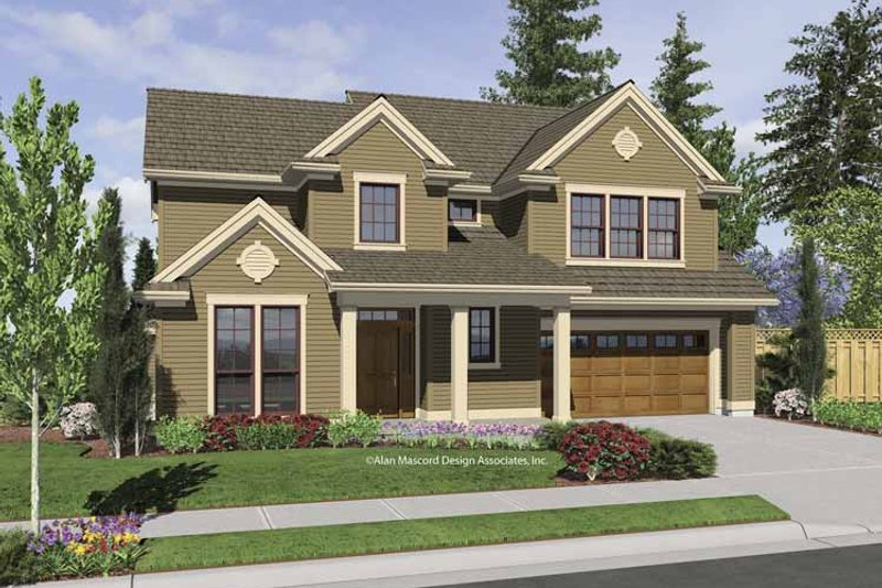 Traditional Exterior - Front Elevation Plan #48-850 - Houseplans.com