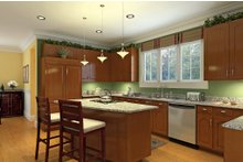 Dream House Plan - Country Interior - Kitchen Plan #929-18