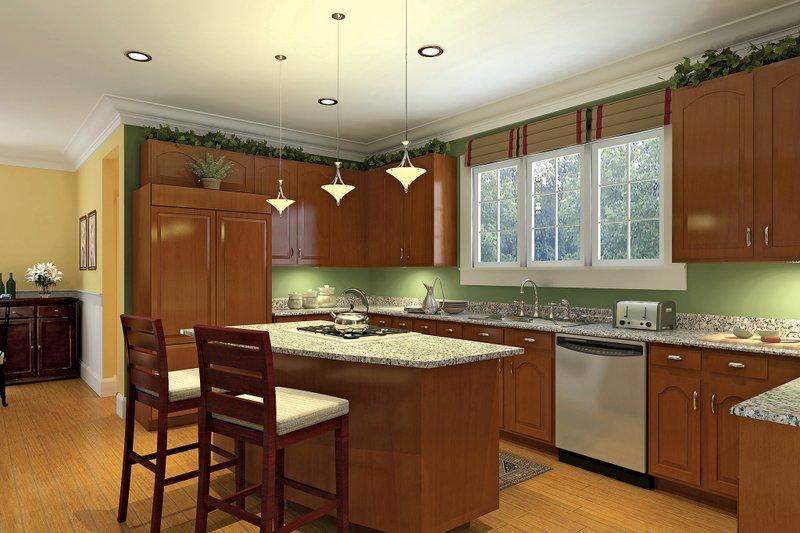 Country Interior - Kitchen Plan #929-18 - Houseplans.com