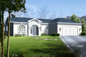 Traditional Exterior - Front Elevation Plan #1-1296