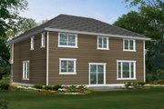 Craftsman Style House Plan - 4 Beds 2.5 Baths 2651 Sq/Ft Plan #132-210 Exterior - Rear Elevation