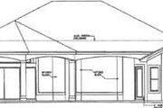 European Style House Plan - 3 Beds 2.5 Baths 2885 Sq/Ft Plan #27-259 Exterior - Rear Elevation