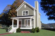 Colonial Style House Plan - 2 Beds 2.5 Baths 1042 Sq/Ft Plan #79-133 Exterior - Front Elevation