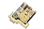 Country Style House Plan - 3 Beds 1 Baths 1314 Sq/Ft Plan #25-4475 Floor Plan - Main Floor Plan