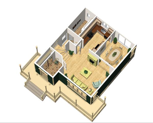 Country Floor Plan - Main Floor Plan Plan #25-4475