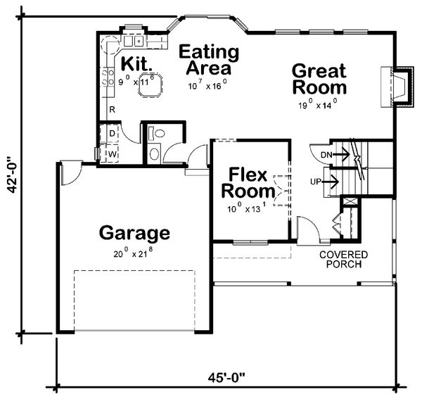 Traditional house plan, country floor plan