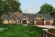 Craftsman Style House Plan - 3 Beds 2.5 Baths 3780 Sq/Ft Plan #132-207 Exterior - Other Elevation