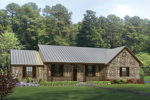 Country Exterior - Front Elevation Plan #935-1