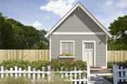 Cottage Style House Plan - 1 Beds 1 Baths 525 Sq/Ft Plan #497-52 Exterior - Front Elevation