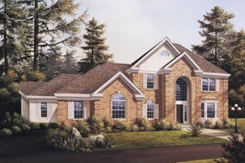 Traditional Exterior - Front Elevation Plan #57-127 - Houseplans.com