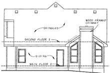 Farmhouse Exterior - Rear Elevation Plan #20-1233