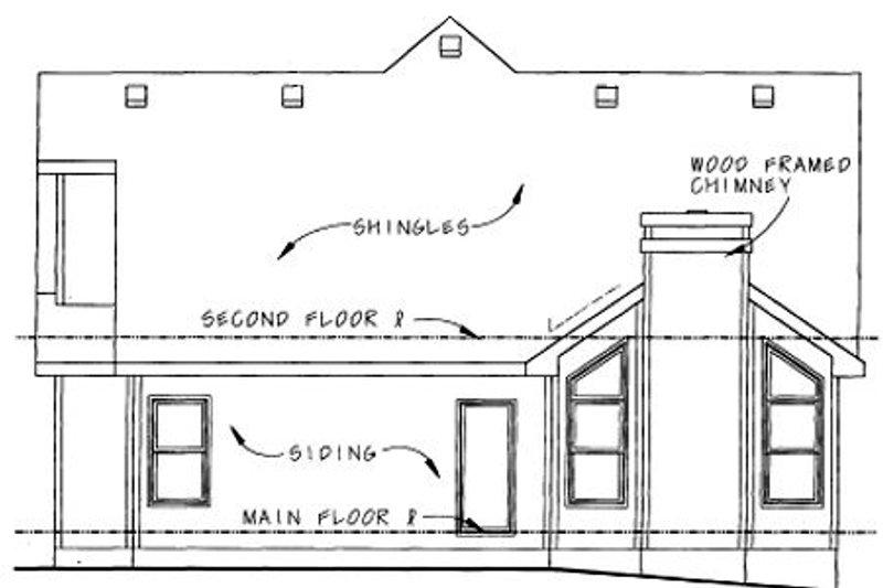 Farmhouse Exterior - Rear Elevation Plan #20-1233 - Houseplans.com