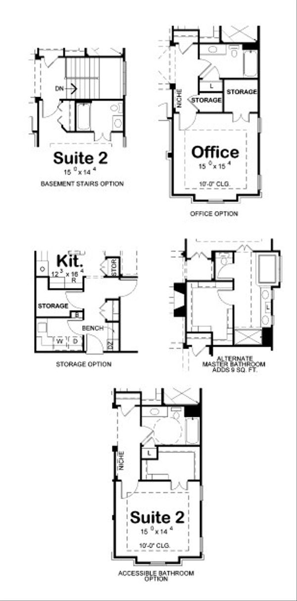European Floor Plan - Other Floor Plan Plan #20-2067