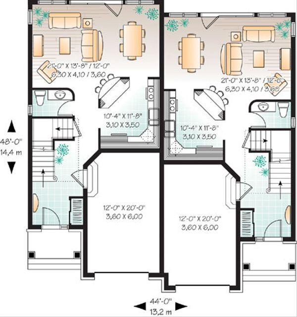European Floor Plan - Main Floor Plan Plan #23-2171