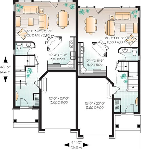 European Floor Plan - Main Floor Plan Plan #23-2171