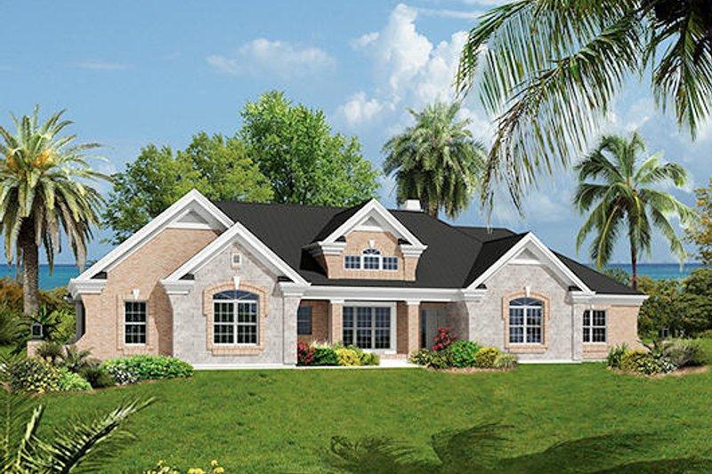 Mediterranean Style House Plan - 3 Beds 2.5 Baths 2614 Sq/Ft Plan #57-279