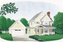 House Plan Design - Country Exterior - Front Elevation Plan #410-114