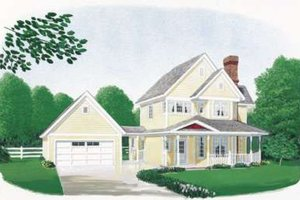 Home Plan Design - Country Exterior - Front Elevation Plan #410-114