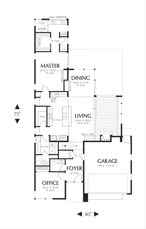 Modern Floor Plan - Main Floor Plan Plan #48-530