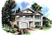 European Style House Plan - 3 Beds 2 Baths 1239 Sq/Ft Plan #18-133 Exterior - Front Elevation