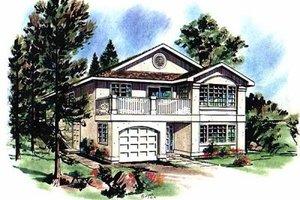 House Plan Design - European Exterior - Front Elevation Plan #18-133