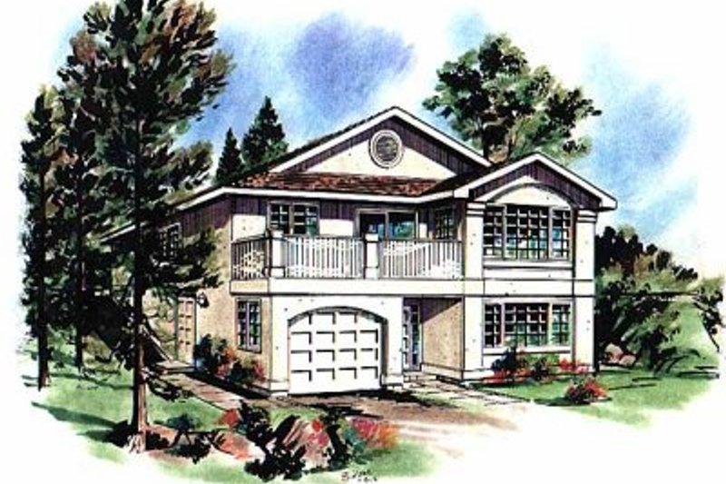 House Blueprint - European Exterior - Front Elevation Plan #18-133