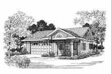 House Blueprint - Traditional Exterior - Front Elevation Plan #72-264